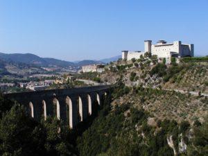 Spoleto, Il Ponte delle Torri e la Rocca Albornoziana