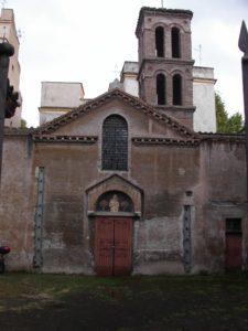 """Santa Maria in Cappella e i """"Bagni di Donna Olimpia""""."""