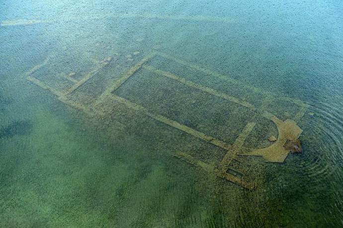Ancient church hidden in Turkish lake. And a Pagan Temple may lie beneath it.